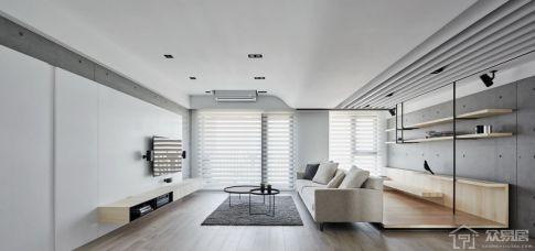 中威中航城现代风格装修  现代风格三房装修效果图