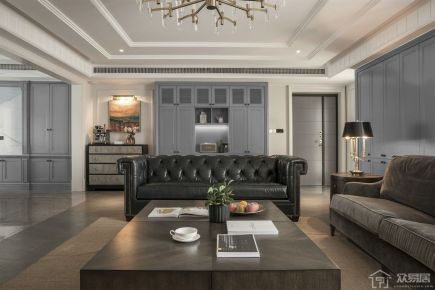 高级灰现代风格别墅装修设计效果图