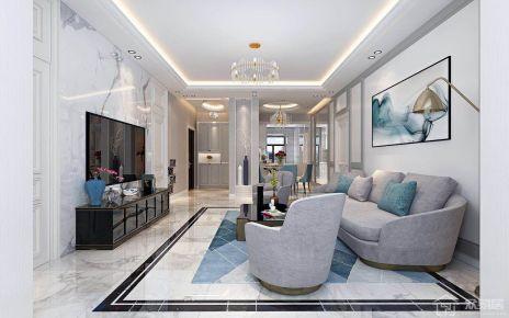 轻奢创意混搭风格家庭装修 混搭风格三房装修效果图
