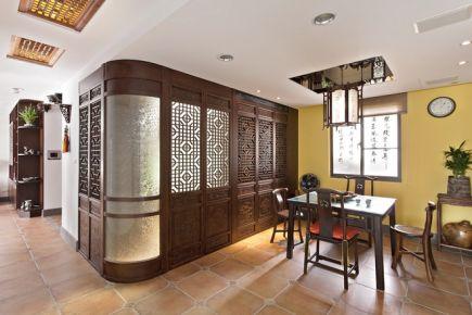 中式三居风雅意境装修设计 中式风格家庭装修效果图