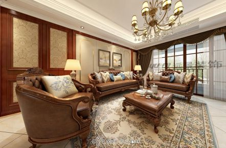 太原龙城二期 欧式风格三房装修设计效果图