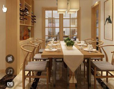 绍兴南门春晓三房装修设计 中式风格家庭装修效果图