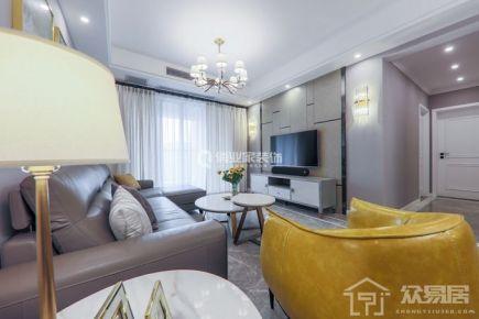 重庆保利江上明珠三室|港式轻奢风格装修实景图