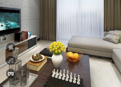 华城新天地现代简约风格装修  现代简约风格三房装修设计