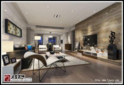 御江帝景三居室装修设计 简约风格家庭装修效果图