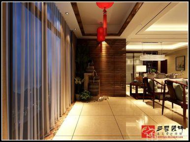 闻馨一品四居室设计装修 中式风格家庭装修设计效果图