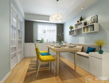 西安宫园中央 150平米四居室创意混搭装修效果图