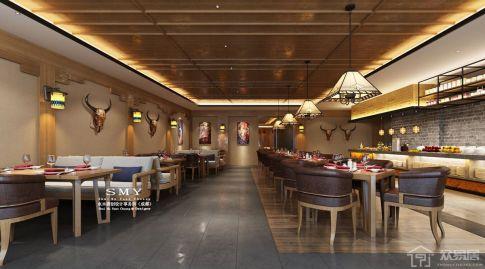 成都炉霍雅砻酒店设计 现代风格酒店装修效果图