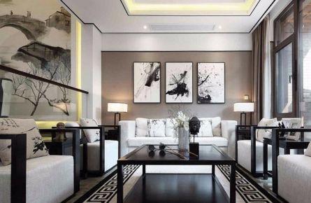 无锡扬子华都四居室中式风格装修效果图 中式风格四居室装修案例