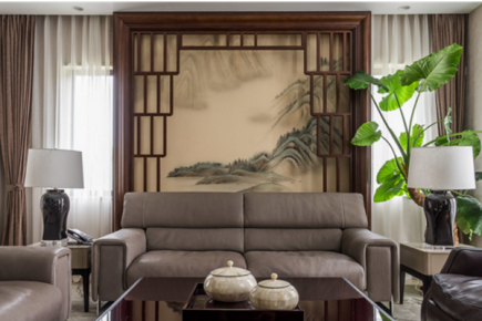 徐州中式风格三居室装修效果图