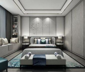 中山市剑桥郡新中式风格装修案例 新中式风格三居室装修设计