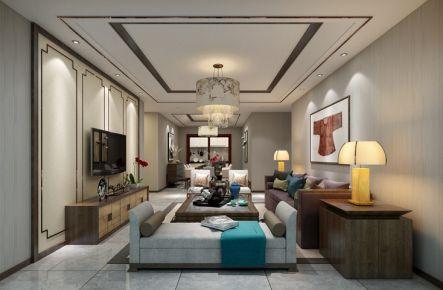 厦门翔安联合博学园中式三居室装修案例