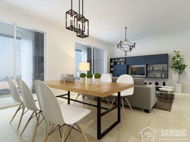 厦门中央海岸现代风格三居室装修效果图