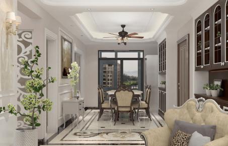 厦门欧式风格三居室装修效果图