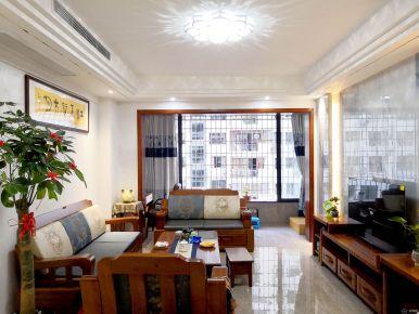 厦门中式风格两居室装修效果图