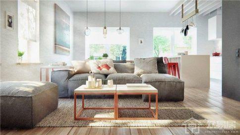 简约风格两居室效果图
