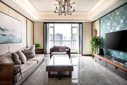 【维享家装饰】北岸江山 三室一厅新中式风格家居装修设计