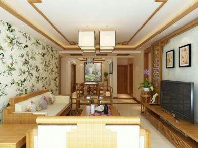 189小区家装设计 中式风格三房装修效果图