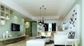 素雅 现代简约风格两房装修设计图