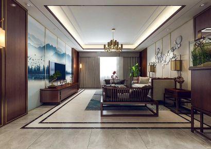 三房大气中式风格装修效果图 中式风格家庭装修设计