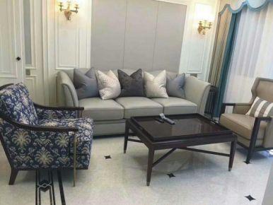中南三居室装修设计 欧式风格家庭装修效果图