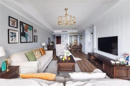 漳州市祥和苑三室美式效果图,充满现代与时尚气息