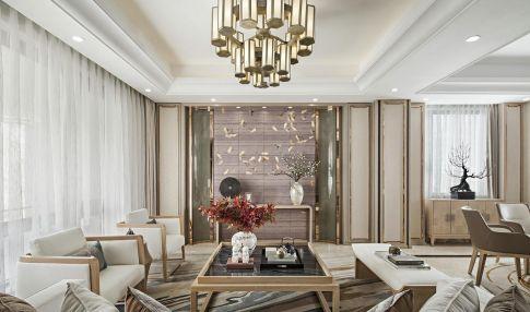 天津新中式风格三居室装修效果图