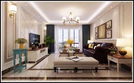深圳美式风格三居室装修效果图