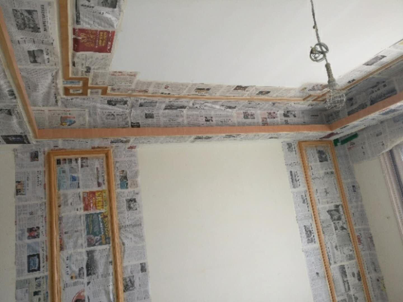 盛世华南小区简中式居家装修施工现场