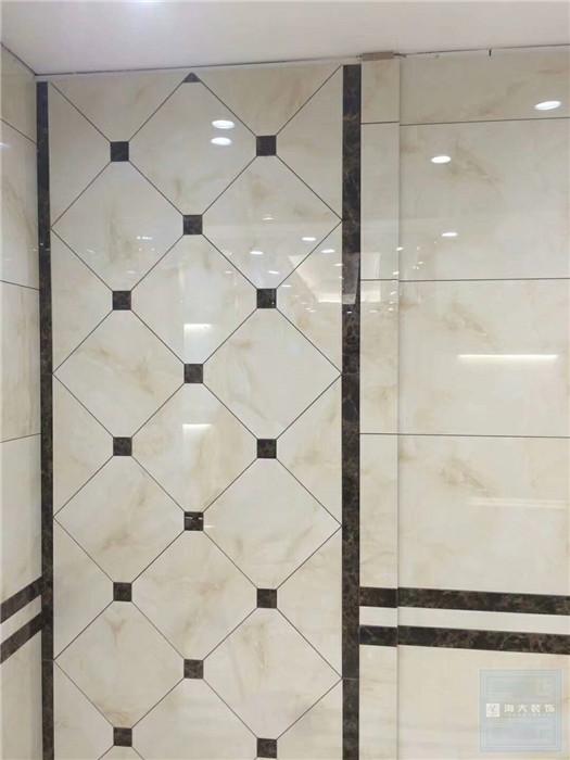 贵阳贴砖工艺装修施工现场