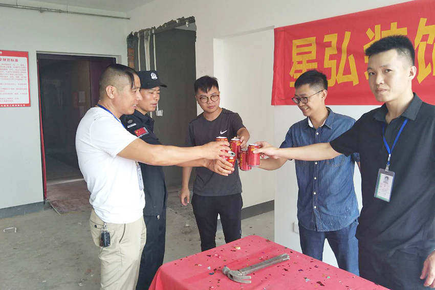 杭州三卫北苑18幢在建工地现场