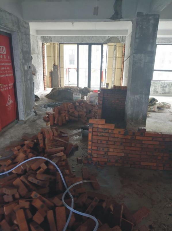 温州南湾家园家装施工现场