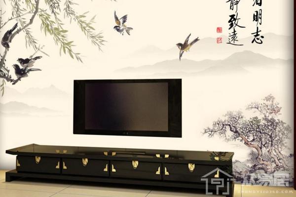 中式风格电视背景墙设计 电视背景墙效果图
