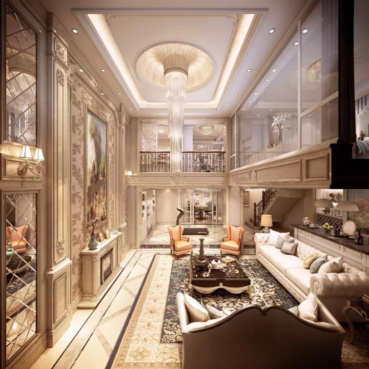 深圳法式别墅装修设计 随处充满优雅的法式浪漫