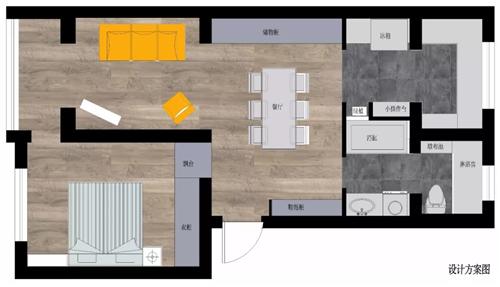 南昌50平单身公寓装修 成为文艺舒适的小窝
