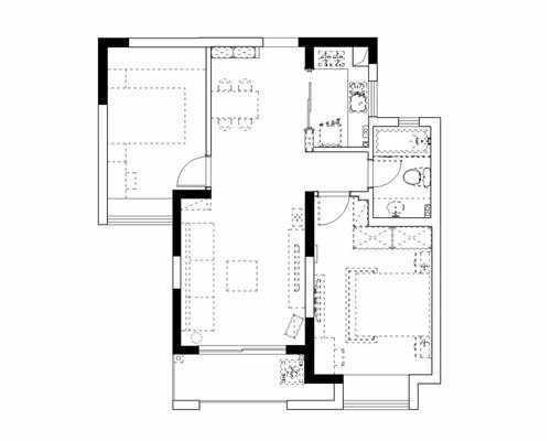 上海85平小居室现代简约装修 简约而又温馨的家