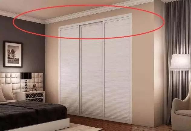 懂行的看过来!都说衣柜要做到顶,但石膏线怎么处理?
