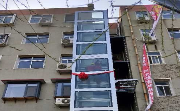 石家庄老旧小区家装电梯 居民通行更便捷