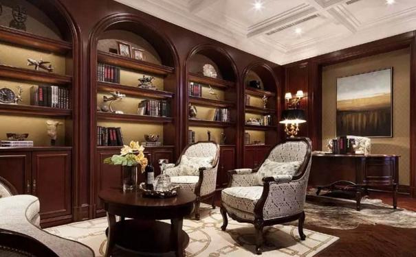 无锡美式书房怎么设计 美式书房设计技巧