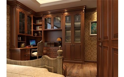 洛阳美式整面墙书柜设计案例 领略北美的古典文艺图片