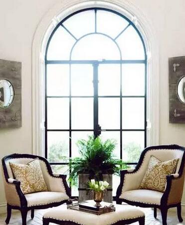 无锡弧形落地窗装修效果图装修方案 让家居锦上添花