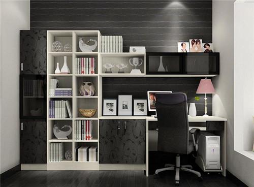 2019书柜装修效果图 书柜电脑桌一体设计大全