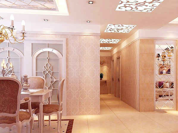 客厅餐厅走廊吊顶如何分区 4款家装客餐厅吊顶分区装修效果图