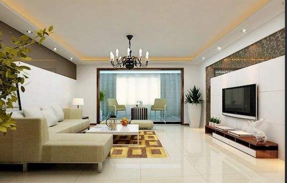 客厅电视背景墙装修设计案例图 电视背景墙装修注意事项