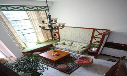 三米设计—绿柳回环 清新雅致复式居