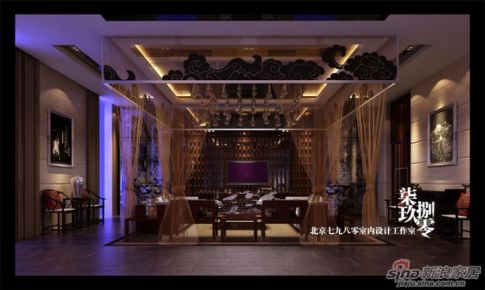 七九八零室内设计公装案例花园酒店