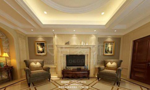 重庆天古装饰重庆巴南典雅花溪半岛别墅设计装修案例美式古典风格装修案例|彭伟