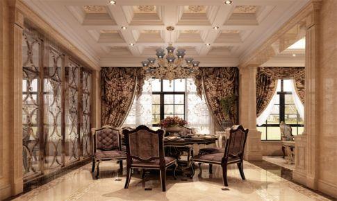 中海紫御豪庭别墅装修欧美古典风格设计