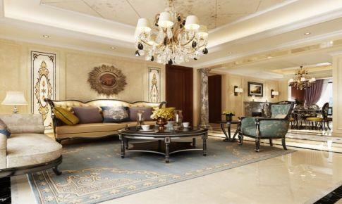 凤凰城四居装修奢华欧式古典风格设计方案