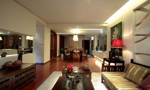 三利云锦-164㎡-现代东南亚风格